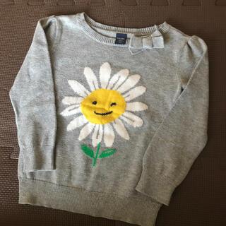 babyGAP - ギャップ お花 ニット セーター グレー 90
