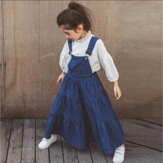 韓国子供服 デニムジャンパースカート140サイズ