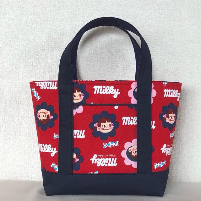 ペコちゃん トートバッグ  ハンドメイド ハンドメイドのファッション小物(バッグ)の商品写真
