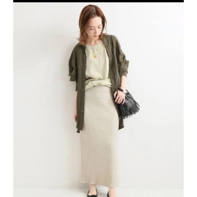 IENA(イエナ)のイエナ テレコリブスカート レディースのスカート(ロングスカート)の商品写真