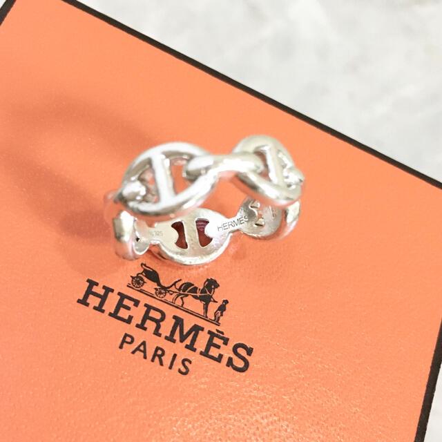 Hermes(エルメス)の正規品 エルメス 指輪 シェーヌダンクル シルバー 925 チェーン リング 2 レディースのアクセサリー(リング(指輪))の商品写真