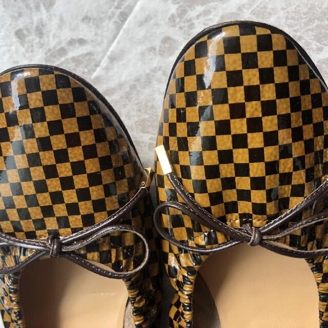 LOUIS VUITTON(ルイヴィトン)のLOUIS VUITTON☆ルイヴィトン ダミエ バレエシューズ 24cm レディースの靴/シューズ(バレエシューズ)の商品写真