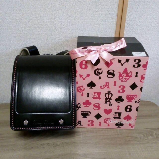 Shirley Temple(シャーリーテンプル)のused☆シャーリーテンプル かわいいランドセル ブラック キッズ/ベビー/マタニティのこども用バッグ(ランドセル)の商品写真