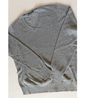 コムサイズム(COMME CA ISM)の美品 コムサイズム ニット セーター グレー M(ニット/セーター)