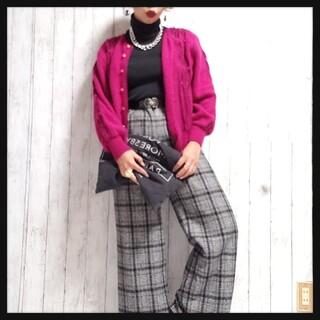 おまとめ値下げOK/レトロチェック柄パンツ/vintage/古着/個性派(カジュアルパンツ)