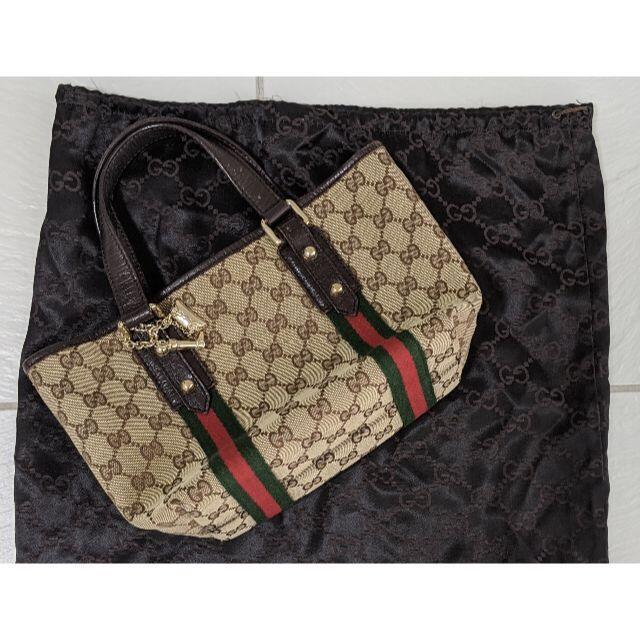 Gucci(グッチ)の値下げ中 GUCCI ミニハンドトートバッグ チャーム付き レディースのバッグ(ハンドバッグ)の商品写真