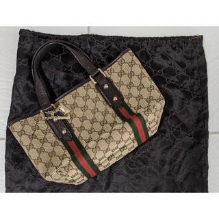 Gucci - GUCCI ミニハンドトートバッグ チャーム付き