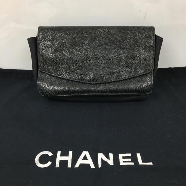 CHANEL(シャネル)の正規品 CHANEL シャネル キャビア スキン ポーチバッグ 送料込み レディースのファッション小物(ポーチ)の商品写真
