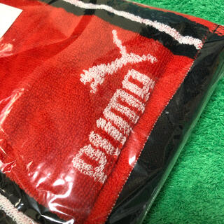 プーマ(PUMA)のプーマ マフラータオル【PUMA】綿100% 総柄 レッド(タオル/バス用品)