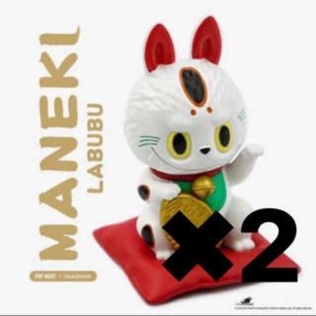2個セット 日本限定 LABUBU 招き猫 popmart 渋谷ロフト エンタメ/ホビーのフィギュア(その他)の商品写真