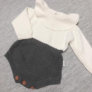 【お値下げ中】ニットロンパース ベビーロンパース  韓国子供服(ロンパース)