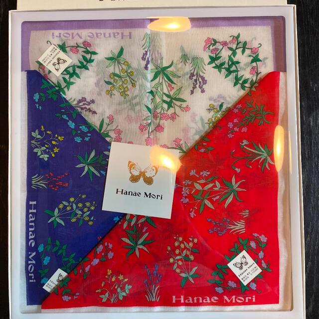 森英恵 ハンカチ3枚セット レディースのファッション小物(ハンカチ)の商品写真