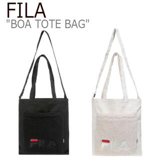 フィラ(FILA)のFILA ボア 2wayトートバック フィラ レディース ロゴ  ベージュ(トートバッグ)