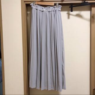 アンクルージュ(Ank Rouge)のプリーツロングスカート(グレーM)4001600360111(ロングスカート)