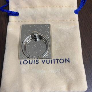 ルイヴィトン(LOUIS VUITTON)のルイヴィトン 携帯 アクセサリー サポート・テレフォン ナノグラム スマホリング(その他)