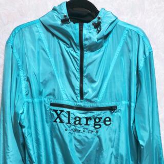 エクストララージ(XLARGE)のXLARGE ナイロンジャケット Lサイズ ブルー(ナイロンジャケット)