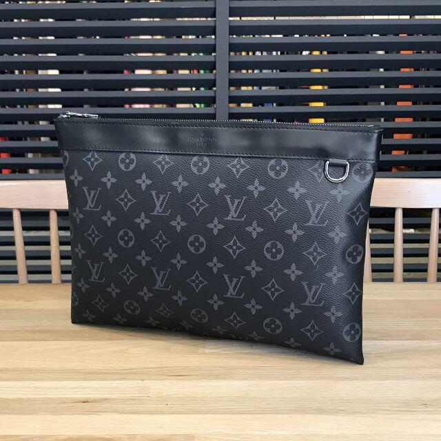 LOUIS VUITTON(ルイヴィトン)の超美品 ルイヴィトン モノグラムエクリプス ポシェットアポロ クラッチバッグ 黒 メンズのバッグ(セカンドバッグ/クラッチバッグ)の商品写真