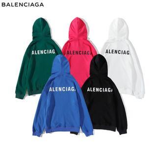 Balenciaga - BALENCIAGA 2807 パーカー/男女兼用/プリント 2枚14000円