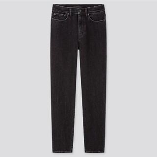 UNIQLO - ★新品未使用タグ付★ハイライズストレートジーンズ(丈標準72cm)