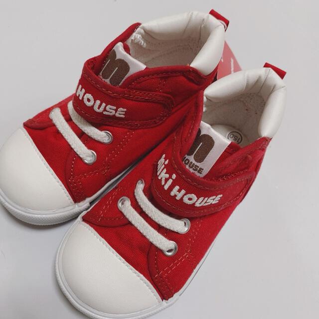 mikihouse(ミキハウス)のミキハウス 15cm 新品 赤 キッズ/ベビー/マタニティのキッズ靴/シューズ(15cm~)(スニーカー)の商品写真