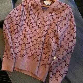 Gucci - 新しいヨーロッパ版ジャカードピンクグッチのニットのセーター