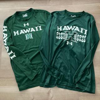 UNDER ARMOUR - ハワイ大×アンダーアーマー ロングTシャツ MD 2枚セット