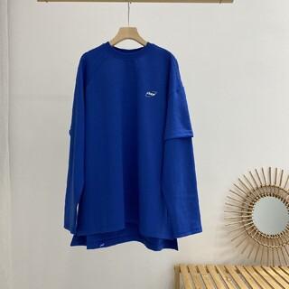 メゾンキツネ(MAISON KITSUNE')のADER ERROR2020 ロンT ブルー(Tシャツ/カットソー(七分/長袖))