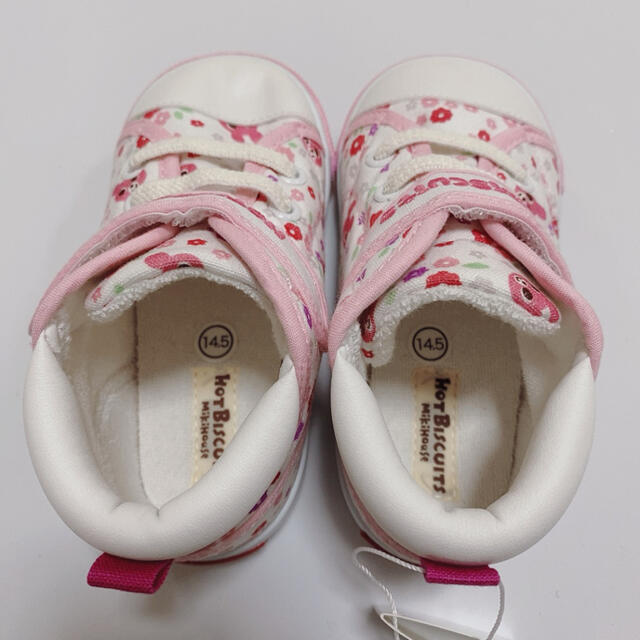 HOT BISCUITS(ホットビスケッツ)のホットビスケッツ 14.5cm ピンク 新品スニーカー キッズ/ベビー/マタニティのキッズ靴/シューズ(15cm~)(スニーカー)の商品写真