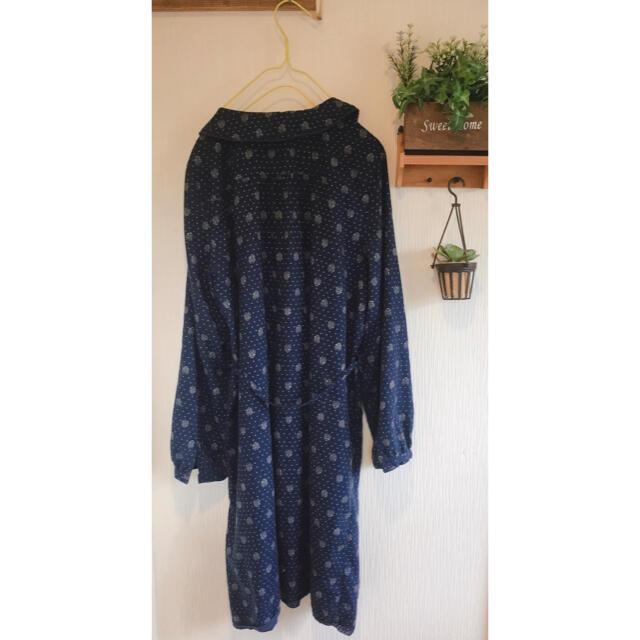 Natural Palette 丸襟シャツ シャツワンピ 長袖 レディースのワンピース(ひざ丈ワンピース)の商品写真