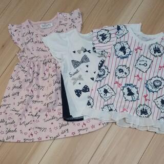 ワンピース1枚、Tシャツ2枚 100(Tシャツ/カットソー)