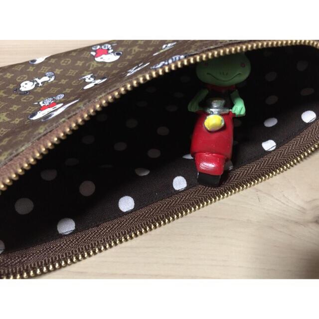ハンドメイド⭐スヌーピー  フラットポーチ ハンドメイドのファッション小物(ポーチ)の商品写真