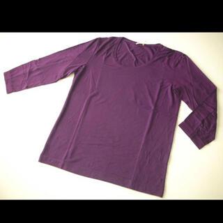 セオリー(theory)の新品 セオリー theory 7部袖 カットソー Uネック メンズ S 紫(Tシャツ/カットソー(七分/長袖))