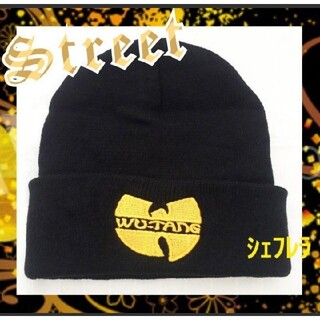 Wu-Tang Clan ウータン クラン ニットキャップ ブラック×イエロー