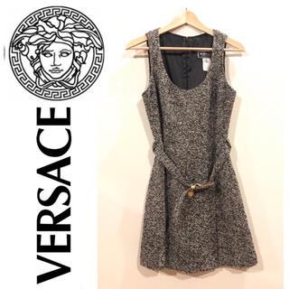 【美品】Versace ワンピース(ひざ丈ワンピース)