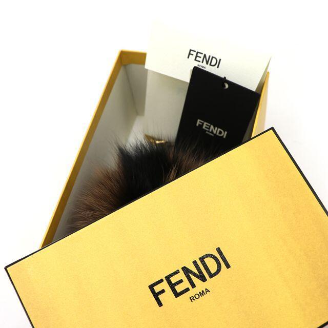 FENDI(フェンディ)のFENDI ポンポンチャーム ブラウン ブラック FFロゴ ファー A3232 レディースのファッション小物(その他)の商品写真