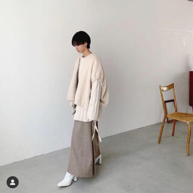 STUDIOUS(ステュディオス)のCLANE BOA VEST LAYERED DOWN COAT レディースのジャケット/アウター(ダウンジャケット)の商品写真