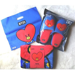 防弾少年団(BTS) - BT21 ブランケット+スリッパ+ラインショップ袋 TATA♡
