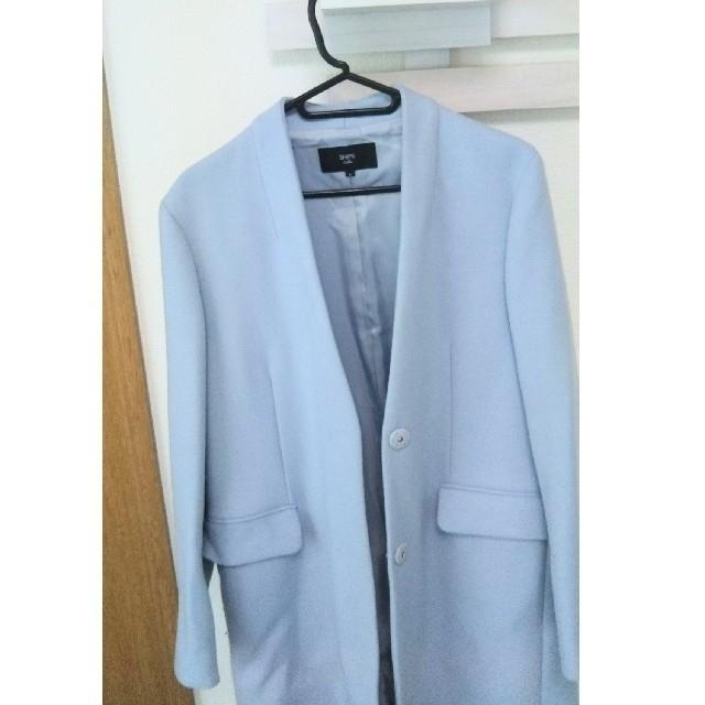 SHIPS(シップス)のSHIPS シップス コート ロングコート ノーカラー レディースのジャケット/アウター(ロングコート)の商品写真