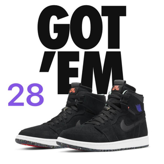 NIKE - AIR JORDAN 1 HIGH ZOOM COURT BLACK 28