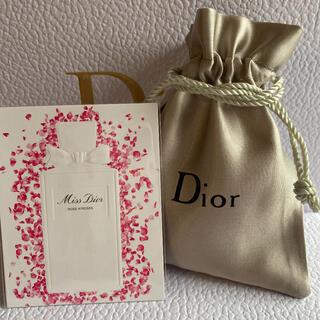 Dior - 希少♡ ミスディオール ローズ&ローズ カードサンプル Dior ロゴ入り巾着袋