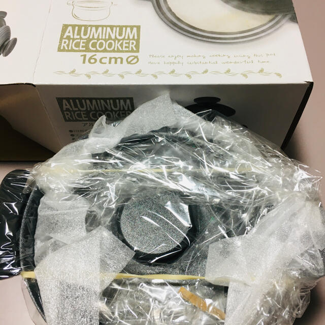 KUKUNA アルミ炊飯鍋 インテリア/住まい/日用品のキッチン/食器(鍋/フライパン)の商品写真
