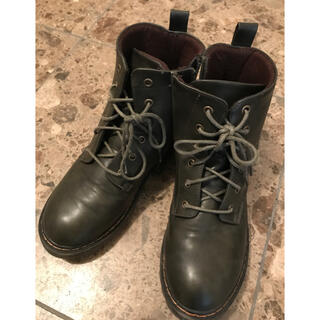 【レディースLL・24.5cm】grandfluer ブーツ カーキ×合皮