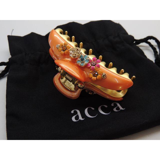 acca(アッカ)のピー様専用10番 美品 アッカ acca クリップ ■ オレンジ系カラー フラワ レディースのヘアアクセサリー(バレッタ/ヘアクリップ)の商品写真