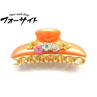 acca - 10番 美品 アッカ acca クリップ ■ オレンジ系カラー フラワー