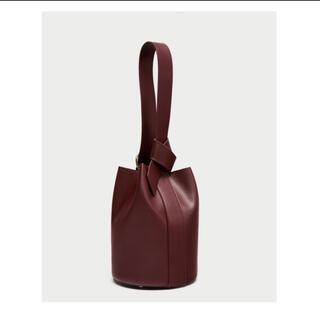 フレイアイディー(FRAY I.D)のコンバーチブル立体デザインバッグ バケツバッグ バーガンディー ブラウン ワイン(ハンドバッグ)
