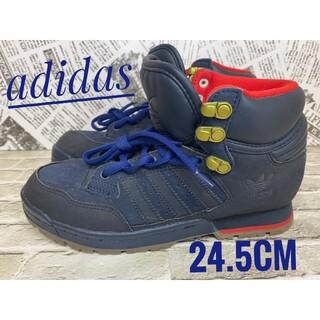 adidas - [adidas]ハイカットスニーカー ネイビー(24.5cm)