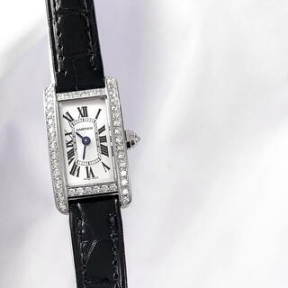 Cartier - 【仕上済】カルティエ タンクアメリカン ミニ シルバー ダイヤ 腕時計