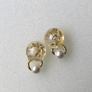 with flowers pierce/ earring
