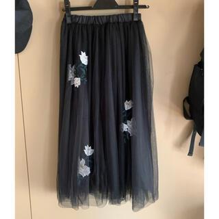 rienda - リエンダ チュールスカート 花柄刺繍