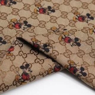 B93 稀少 ジャガード織 ミッキー 濃いブラウン  可愛い ハンドメイド